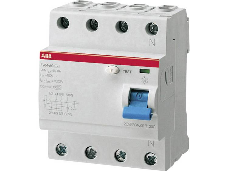 Aardlekschakelaar 25 A 230 V-AC, 400 V-AC ABB 2CSF204101R1250