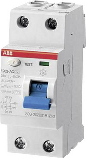 Aardlekschakelaar 2-polig 40 A 0.03 A 230 V/AC, 400 V/AC ABB 2CSF202101R1400