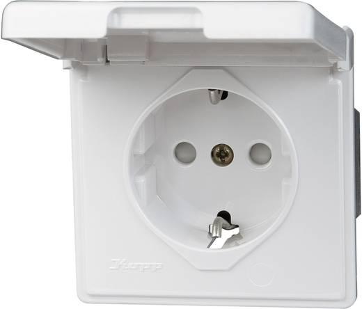 Stopcontact met randaarde Arktis Kopp 119102080 spatwaterdicht Wit