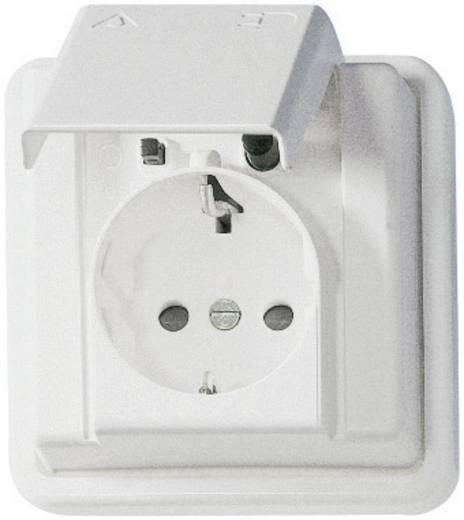Persoonsbeveiligd stopcontact Arktis Kopp 916902016 spatwaterdicht Wit
