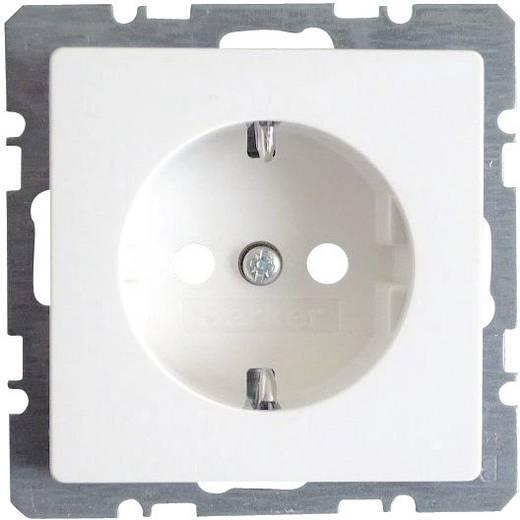 Berker Inbouw Stopcontact met randaarde Q.3, Q.1 Polar-wit 4123 60 89