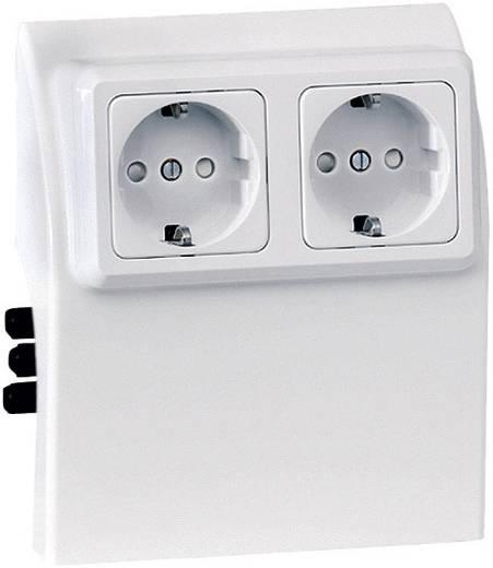 Stopcontact voeding links voor plintsysteem Wit