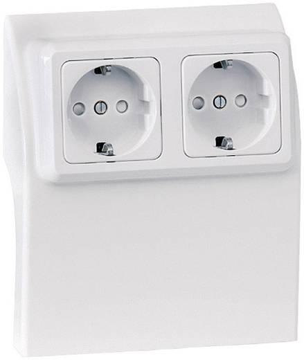 Stopcontact behuizing voor plintsysteem Wit