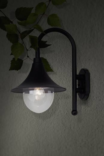 Buitenwandlamp E27 60 W Brilliant Berna 41081/06 Zwart