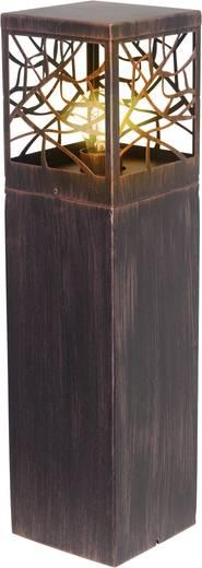 Staande buitenlamp Gloeilamp E27 60 W Brilliant Whitney 46394/55 Roest-bruin
