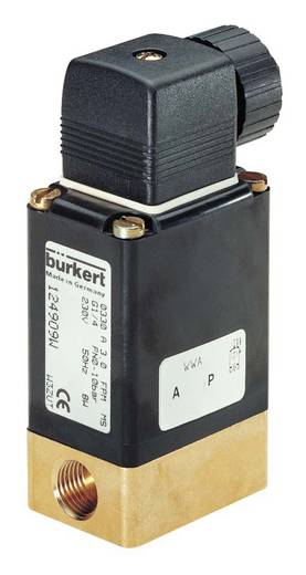 Bürkert 25084 2/2-weg Direct bedienbaar ventiel 24 V/DC G 1/4 mof Nominale breedte 4 mm Materiaal (behuizing) Messing Af