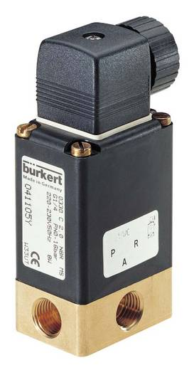 Bürkert 41141 3/2-weg Direct bedienbaar ventiel 24 V/AC G 1/4 mof Nominale breedte 3 mm Materiaal (behuizing) Messing Afdichtmateriaal NBR