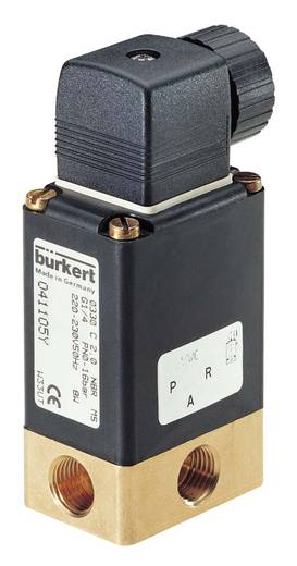 Bürkert 44302 3/2-weg Direct bedienbaar ventiel 24 V/DC G 1/4 mof Nominale breedte 4 mm Materiaal (behuizing) Messing Af