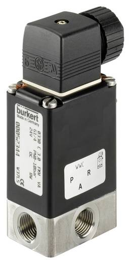 Bürkert 124937 3/2-weg Direct bedienbaar ventiel 24 V/DC G 1/4 mof Nominale breedte 3 mm Materiaal (behuizing) RVS Afdic