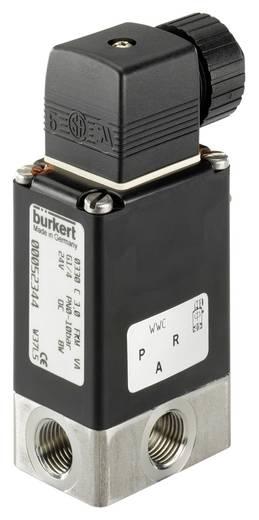 Bürkert 124938 3/2-weg Direct bedienbaar ventiel 24 V/AC G 1/4 mof Nominale breedte 3 mm Materiaal (behuizing) RVS Afdichtmateriaal FKM