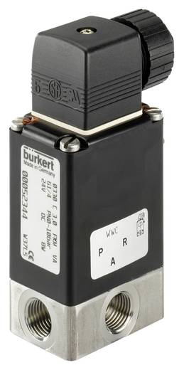 Bürkert 137850 3/2-weg Direct bedienbaar ventiel 24 V/DC G 1/4 mof Nominale breedte 2 mm Materiaal (behuizing) RVS Afdichtmateriaal FKM