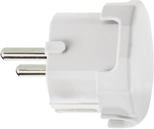 Haakse stekker met randaarde Kunststof 230 V Grijs IP20 624411