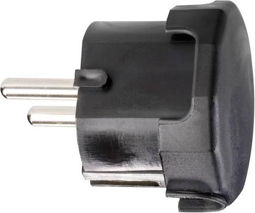 Haakse stekker met randaarde Kunststof 230 V Zwart IP20 624446