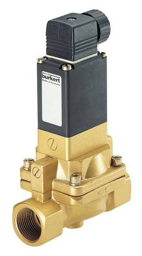 Bürkert 134489 2/2-weg Servogestuurd ventiel 230 V/AC G 1/2 mof Nominale breedte 13 mm Materiaal (behuizing) Messing Afdichtmateriaal FKM