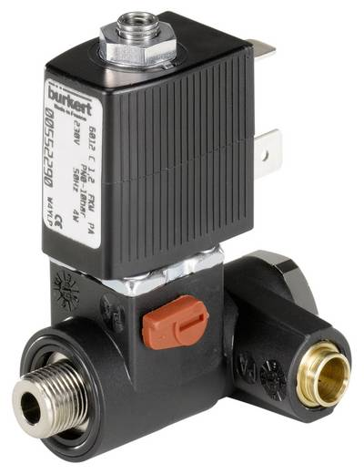 Bürkert 552284 Direct bedienbaar ventiel 3/2-weg 24 V/AC G 1/4 Nominale breedte 1.2 mm Materiaal (behuizing) Polyamide Afdichtmateriaal FKM, NBR In rust gesloten, uitgang 2 ontlast