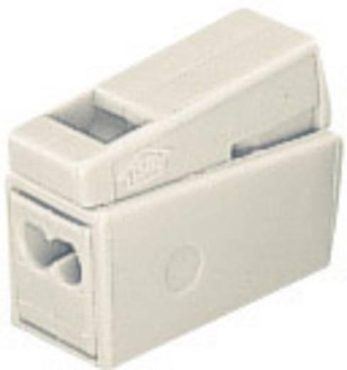 WAGO Lampklem Flexibel: 0.5-2.5 mm² Massief: 1-2.5 mm² Aantal polen: 3 15 stuks Wit