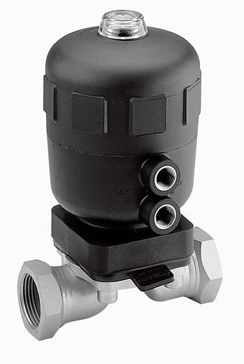Bürkert 138542 2/2-weg Luchtgestuurd ventiel Materiaal (behuizing) RVS Afdichtmateriaal PFTE, EPDM