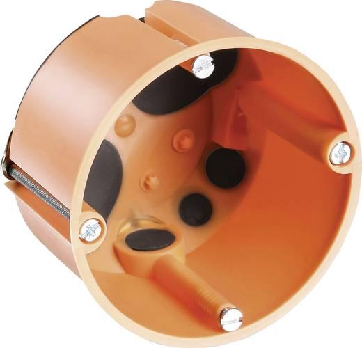 F-Tronic inbouwdoos Holle wandcontactdoos, 2-componenten, 47 mm, verpakking van 20 stuks 7360028 Oranje