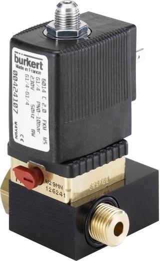 Bürkert 424107 Direct bedienbaar ventiel 3/2-weg 230 V/AC G 1/4 Nominale breedte 2 mm Materiaal (behuizing) Messing Afdichtmateriaal FKM In rust gesloten, uitgang 2 ontlast