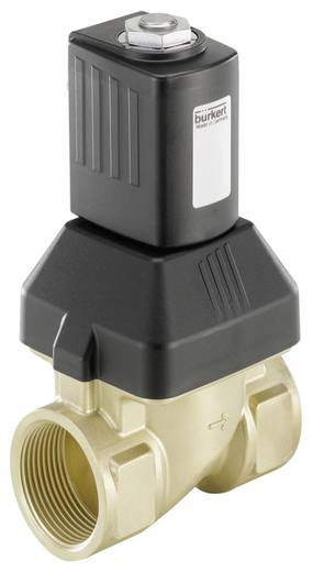 Bürkert 221737 2/2-weg Servogestuurd ventiel 24 V/AC G 1 1/4 mof Nominale breedte 25 mm Materiaal (behuizing) Messing Af