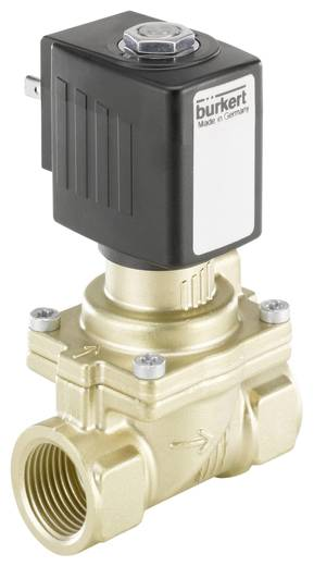Bürkert 221900 2/2-weg Servogestuurd ventiel 230 V/AC G 1/2 mof Nominale breedte 13 mm Materiaal (behuizing) Messing Afdichtmateriaal EPDM
