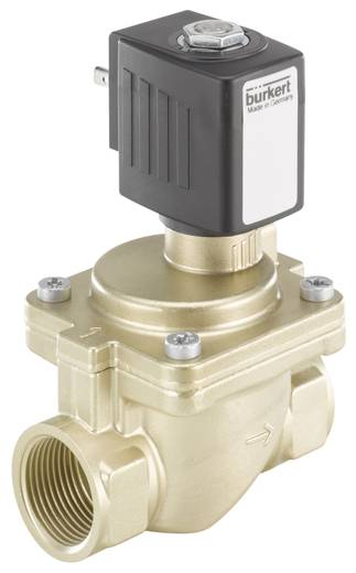 Bürkert 221906 2/2-weg Servogestuurd ventiel 230 V/AC G 3/4 mof Nominale breedte 20 mm Materiaal (behuizing) Messing Afdichtmateriaal EPDM