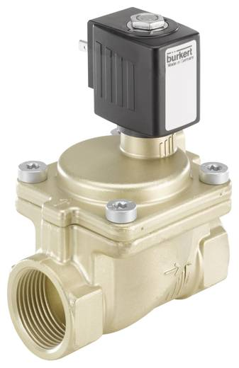 Bürkert 221882 2/2-weg Servogestuurd ventiel 230 V/AC G 1 mof Nominale breedte 20 mm Materiaal (behuizing) Messing Afdichtmateriaal FKM