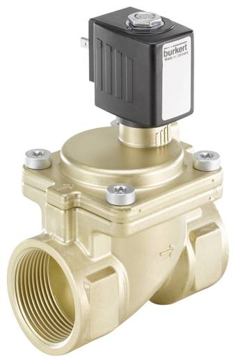 Bürkert 221914 2/2-weg Servogestuurd ventiel 24 V/AC G 1 1/4 mof Nominale breedte 25 mm Materiaal (behuizing) Messing Afdichtmateriaal EPDM