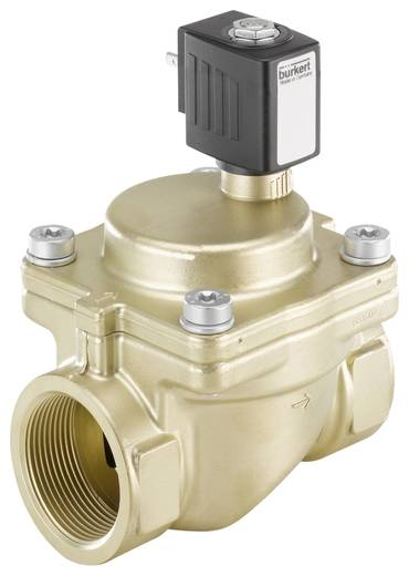 Bürkert 221863 2/2-weg Servogestuurd ventiel 24 V/AC G 1 1/2 mof Nominale breedte 40 mm Materiaal (behuizing) Messing Af