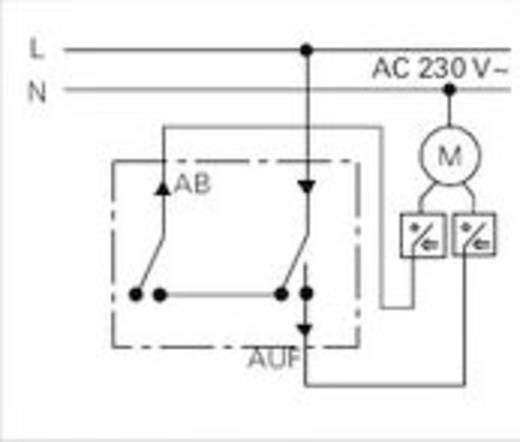 GIRA Inbouw Jaloezie-knop Standaard 55, E2, Event Clear, Event, Event Opaque, Esprit, ClassiX, System 55 015400