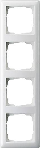 GIRA 4-voudig Frame System 55, Standaard 55 Zuiver wit 021403