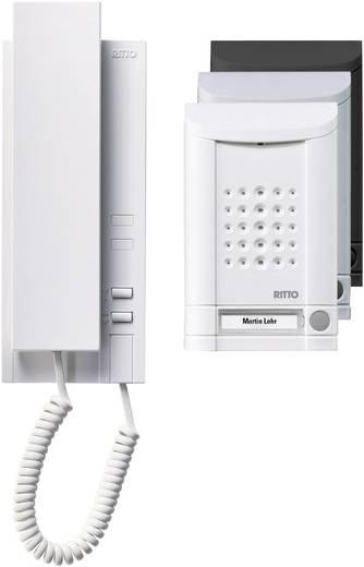 Ritto by Schneider 16731/70 Complete set voor Deurintercom Kabelgebonden 1 gezinswoning Wit