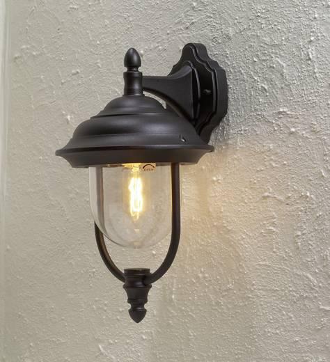 Buitenwandlamp E27 75 W Konstsmide Parma 7222-750 Zwart