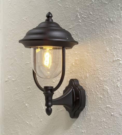 Buitenwandlamp E27 75 W Konstsmide Parma 7223-750 Zwart