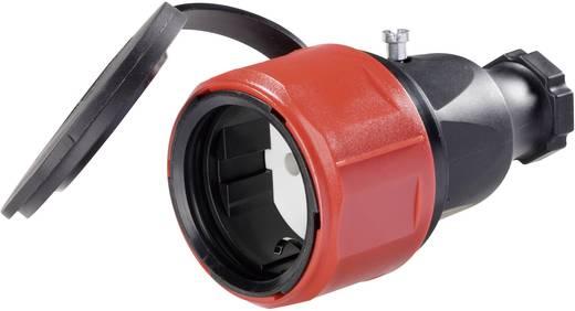 Koppeling met randaarde Rubber 230 V Zwart IP44 PCE 180616048