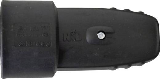Koppeling met randaarde Rubber 230 V Zwart IP20 627763