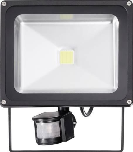 LED-schijnwerper met bewegingsmelder 30 W Koud-wit Zwart