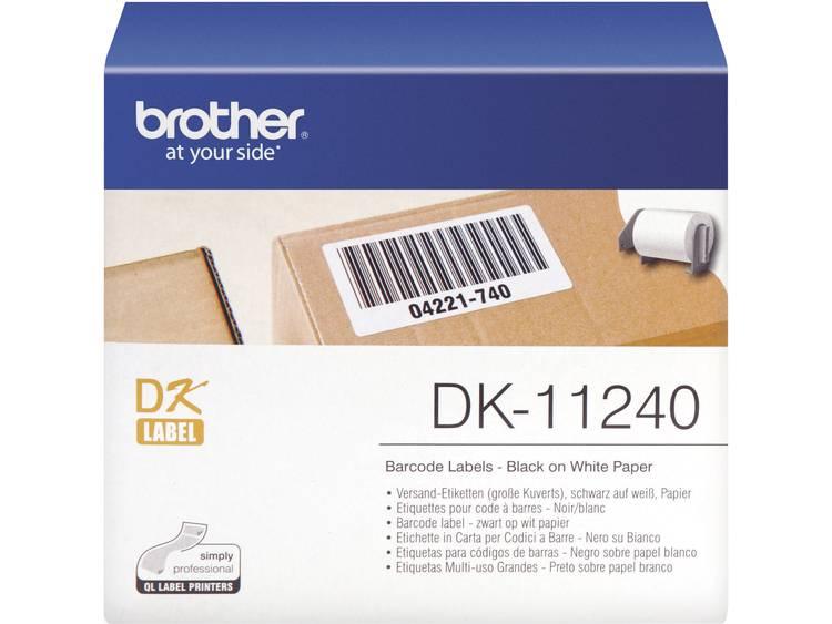 Brother Etiketten (rol) 102 x 51 mm Papier Wit 600 stuks Permanent DK11240 DK-11240 Verzendetiketten