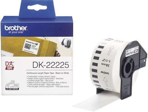 BrotherType etikettentape DK-22225, DK22225 , doorlopende etiketten papier (38 mm x 30,48 m), wit, voo