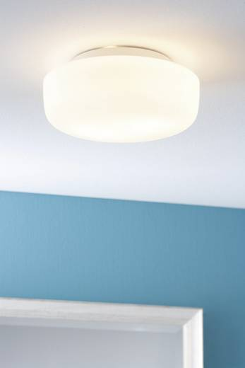 Badkamer plafondlamp Halogeen, Spaarlamp E14 80 W Paulmann Deneb 70342 Wit, Opaal