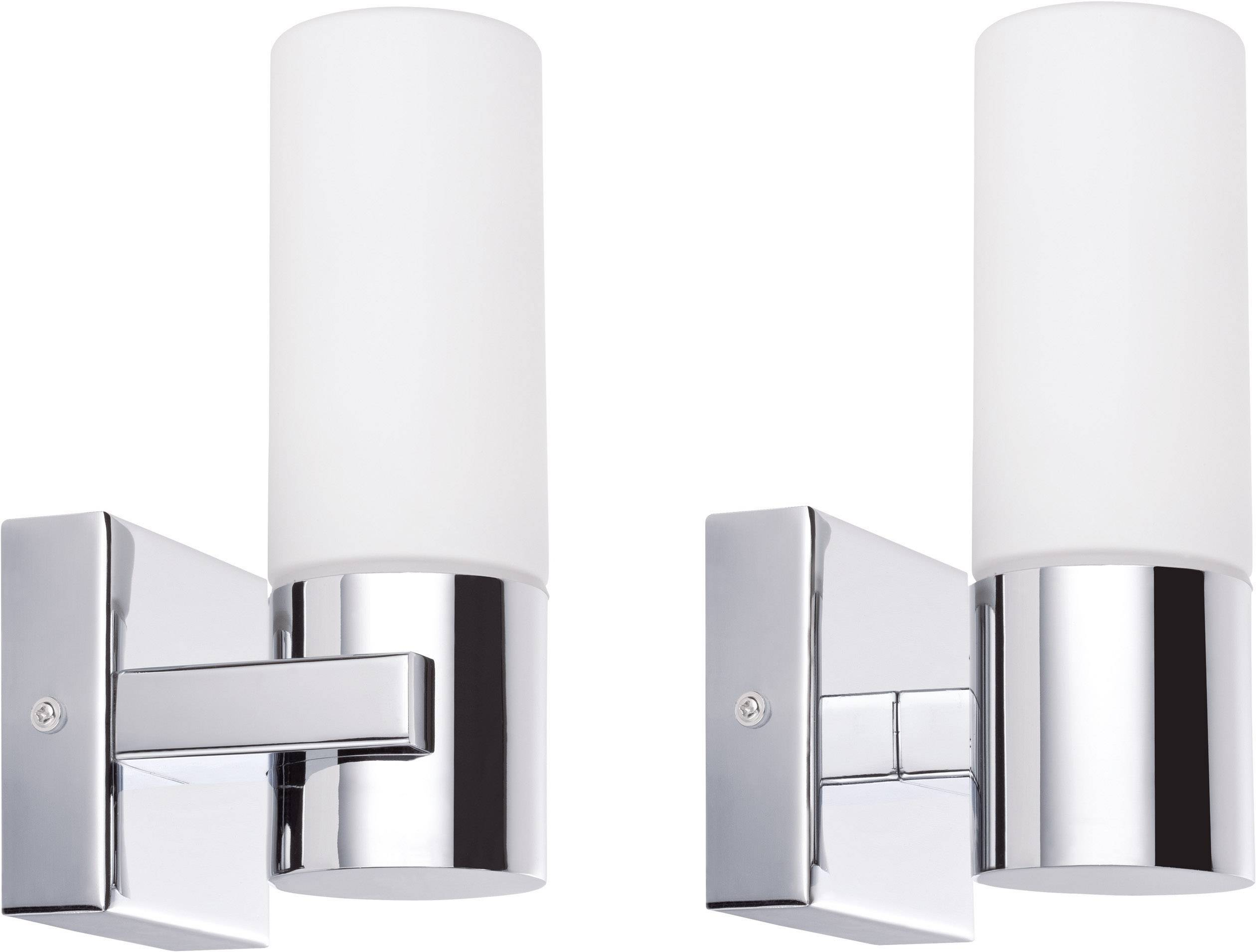 Badkamer Wandlamp Chroom : Badkamer wandlamp halogeen spaarlamp e14 40 w paulmann gemini 70354