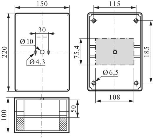 BACO BA172559 Lege behuizing (b x h x d) 108 x 220 x 100 mm Zonder markering Grijs 1 stuks