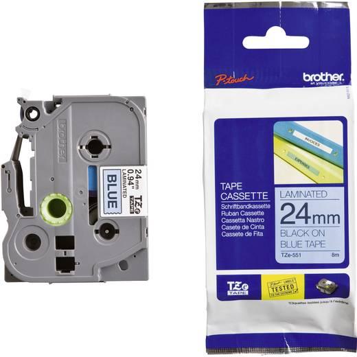 Brother TZe-551 Labeltape Tapekleur: Blauw Tekstkleur: Zwart 24 mm 8 m