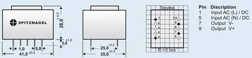 Spitznagel SPN 00524 AC/DC printnetvoeding 24 V/DC 0.21 A 5 W