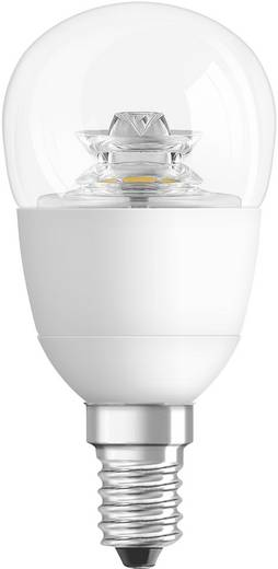 LED-lamp E14 Kogel 6 W = 40 W Warmwit (Ø x l) 44 mm x 89 mm Energielabel: A+ OSRAM Dimbaar 1 stuks