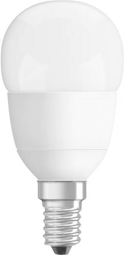 OSRAM LED E14 Kogel 6 W = 40 W Warmwit (Ø x l) 47 mm x 89 mm Energielabel: A+ 1 stuks