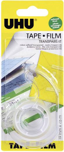 UHU UHU Zelfklevende folie Transparant (l x b) 7.5 m x 19 mm Inhoud: 1 rollen