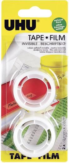 UHU UHU Zelfklevende folie Transparant (l x b) 7.5 m x 19 mm Inhoud: 2 rollen