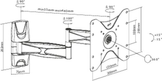 "SpeaKa Professional Mahagoni TV-beugel 58,4 cm (23"") - 106,7 cm (42"") Kantelbaar en zwenkbaar"