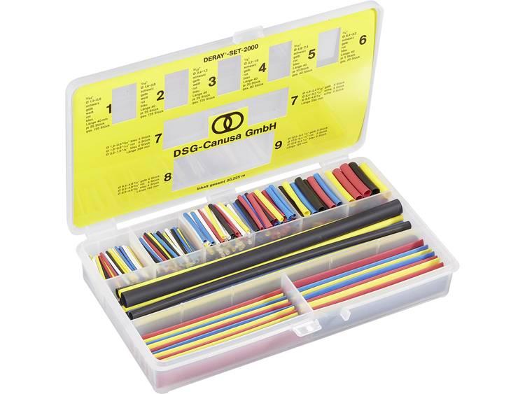 Deray-set 2000, gekleurd Ø voor-na krimpen:-Krimpverhouding 2:1 1 set